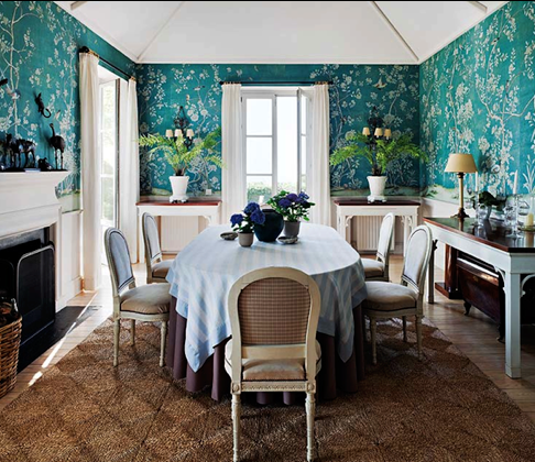 Blue-green inspires paint wallpaper selection in Spain; Photo: Nuevo Estilo