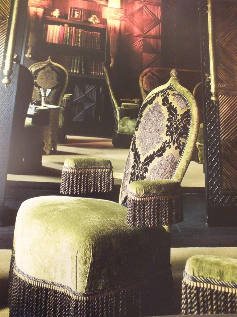 Grange designed chair for the smoking room of La Mamounia. (Photo courtesy of La Mamounia by Assouline.