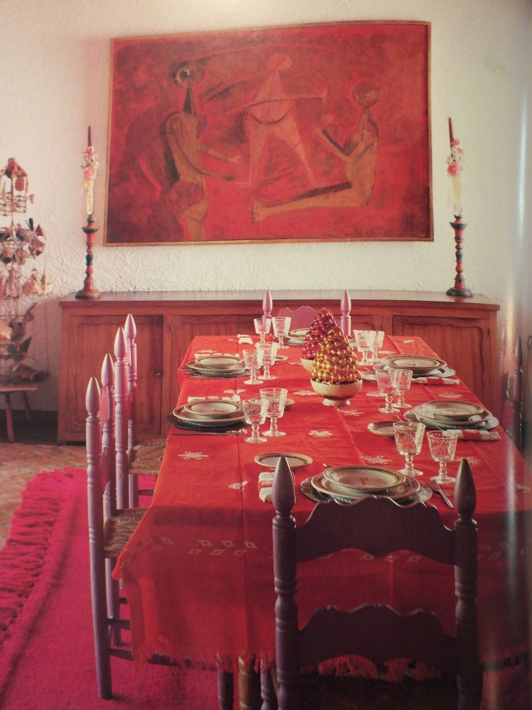 Dining room of Olga and Rufino Tamayo from Casa Mexicana. (Photo by Tim Street Porter)