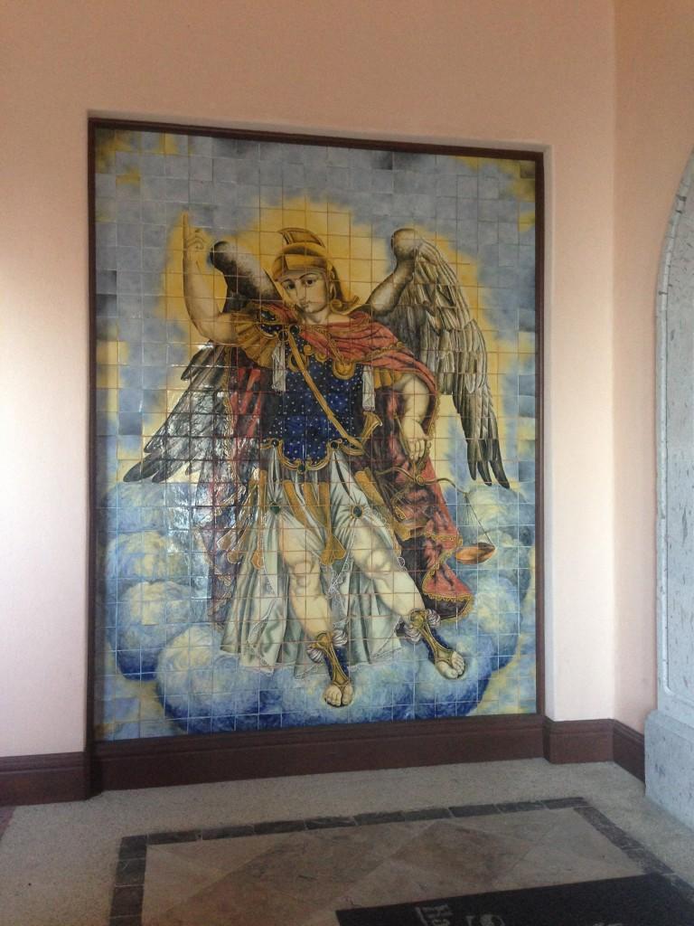 Tile mural at Sheraton Hacienda del Sol.