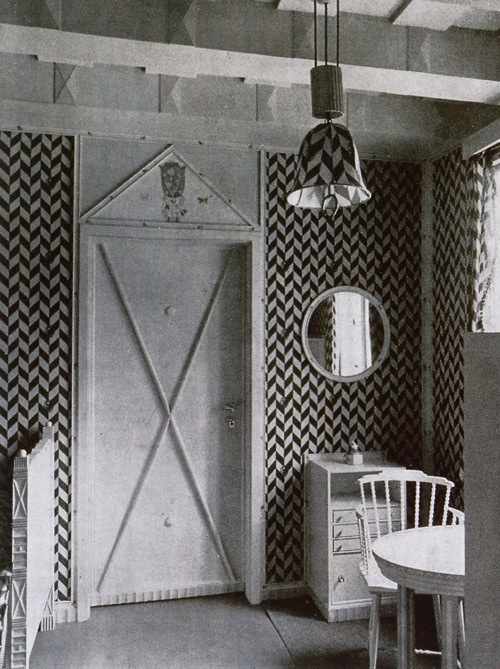 What is behind the door in this charming room designed by Josef Hoffmann? (Photo courtesy of www.pop-pervert.com)