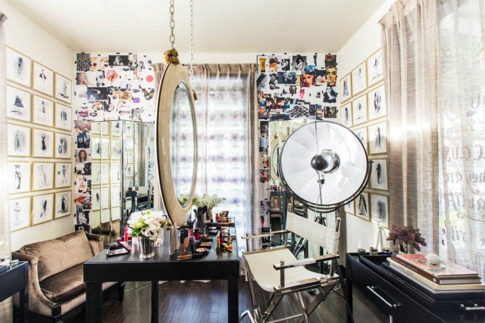 Makeup studio.