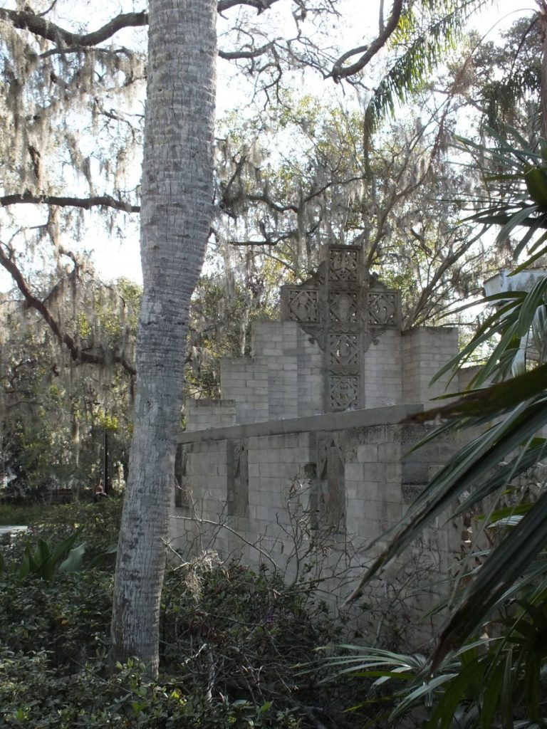 A private wedding chapel is open to the glorious Florida surroundings.