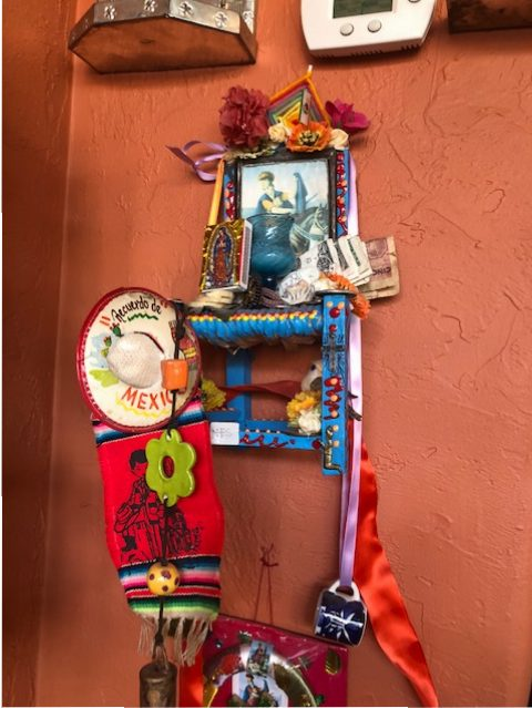 A friend made this assemblage for Kevin and James when they opened the store.