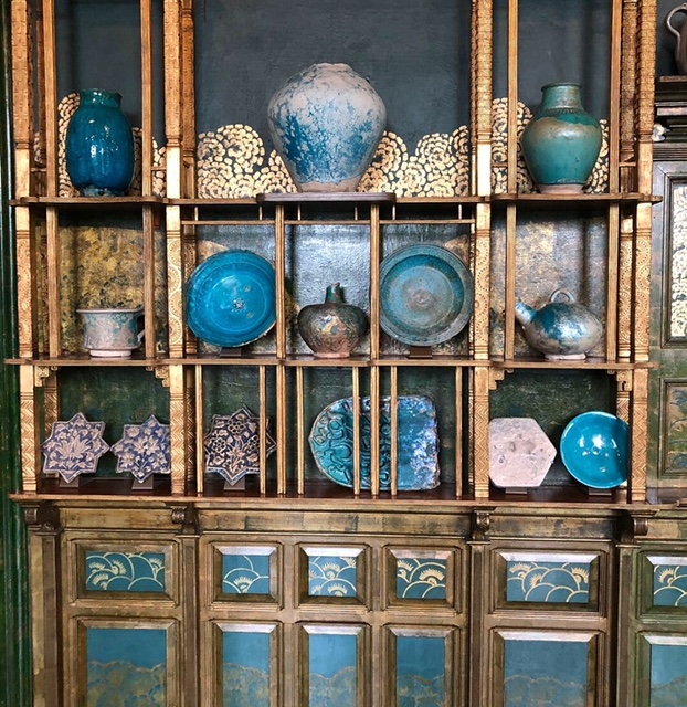 My favorite part of the collection is the section of Islamic tile and turquoise ceramics.