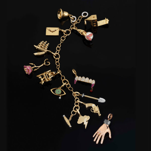 Not your average charm bracelet. (Photo: Dominique Issermann for The Vampire's Wife)