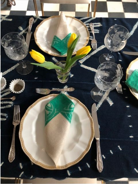 Playing with the table setting.