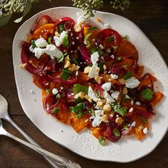 Dan Kluger's roasted butternut squash with spicy onions. (Photo: Food52)