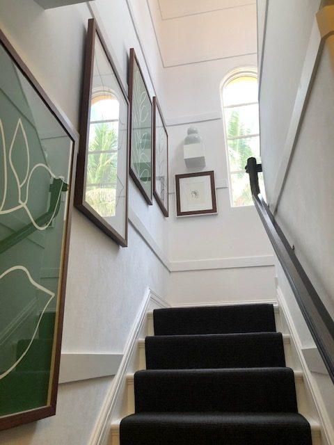 Back stairway by Billy Ceglia Designs, LLC.