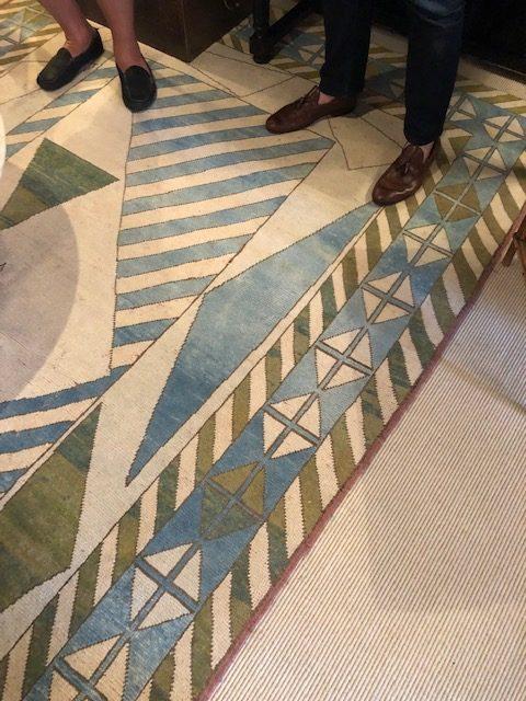 Detail of the sharp Turkish rug.