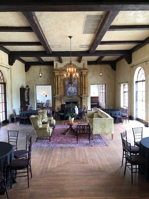 Lovely inlay of the oak floor in the ballroom.