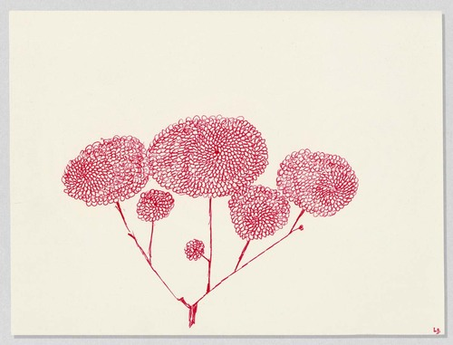 Untitled from The Insomnia Drawings, Louise Bourgeois, 1995. (Photo: The Easton Foundation/VAGA at ARS,NY)