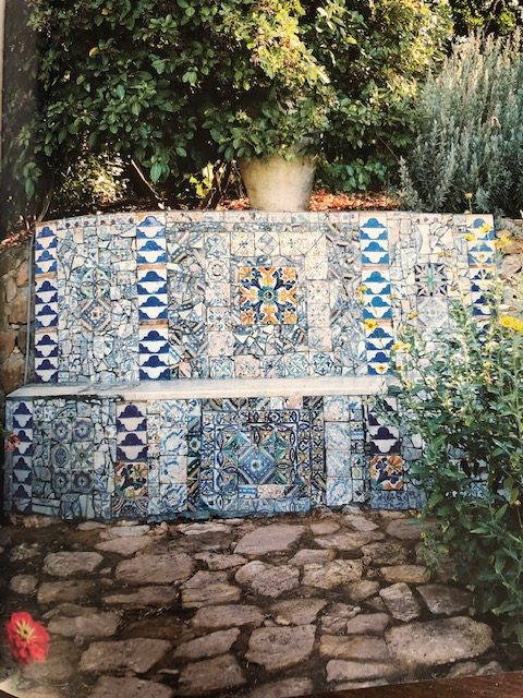 A beautifully tiled beach which Pasti does so well inside The Garden of the Portuguese.