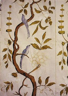 Handpainted wallpaper in Drottningholms Teatermuseum. (Photo: andreas-praefcke.de)