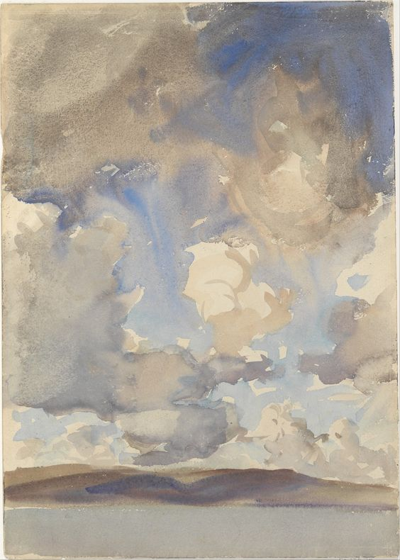 John Singer Sargent, Clouds, 1897. (Photo: effluvitality)