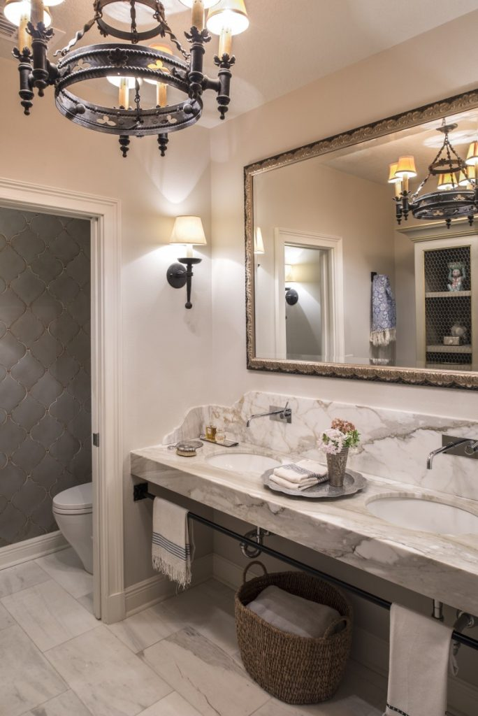 A clients' renovated master bathroom. (Photo: Stephen Allen)