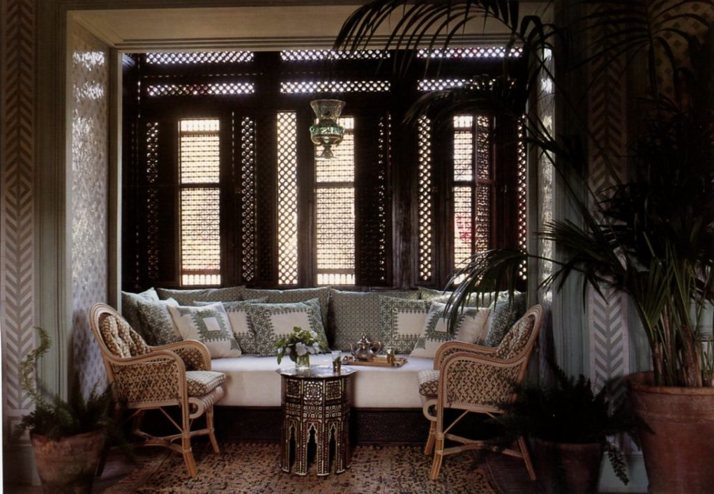 Charming wicker chairs at Ain Kassimou, Design Alberto Pinto. (Photo: habituallychic.luxury)