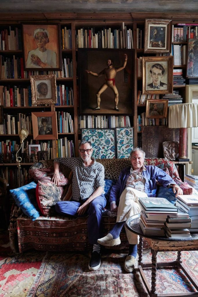 Pasti and Janson sitting in their Milanese living room. (Photo: Ngoc Minh Ngo)