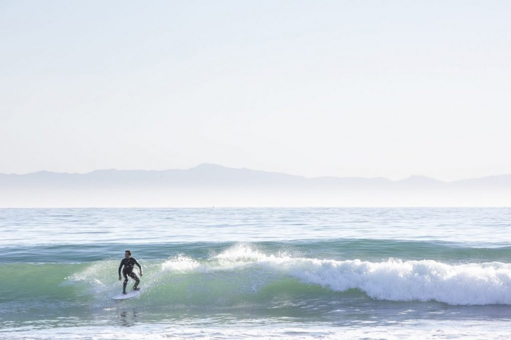 A surfer in Montecito. (Photo: C Magazine)