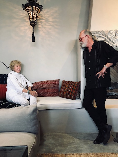 Que Throm and Cicero Greathouse at home in San Miguel de Allende, April 2019.