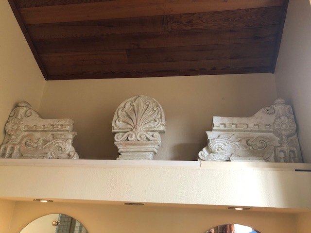 The Florida frieze in white for his Encinitas home.