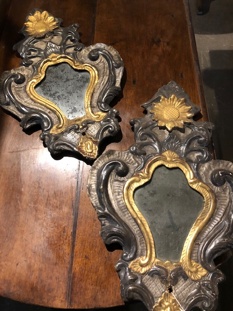 18th c. Venetian polychromed and gilt mirrors, Provenance Antiques.