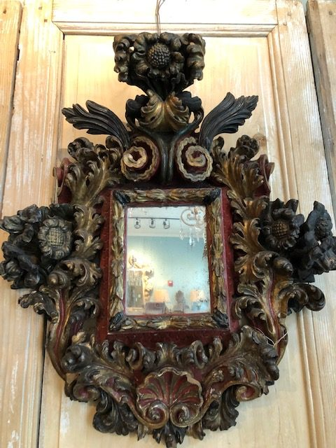 One could have two of these as there was a pair of these elaborate Italian mirrors.