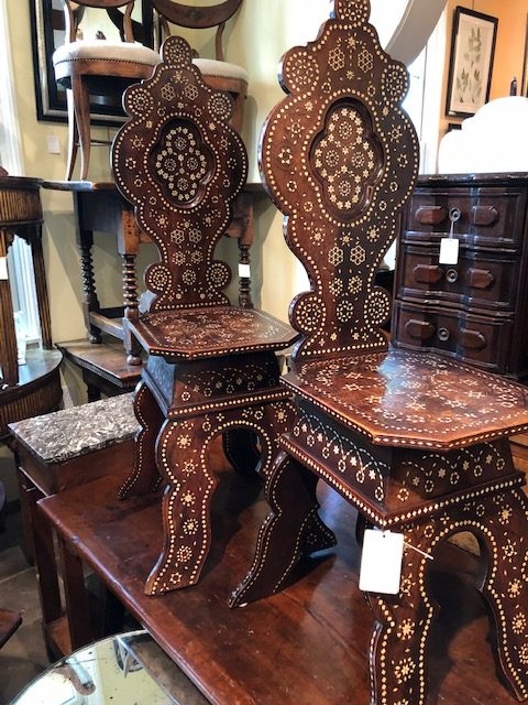 A pair of Syrian beauties, English Accent Antiques.
