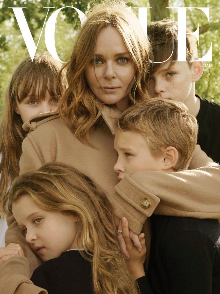 Stella McCartney and children. (Photo: Vogue)