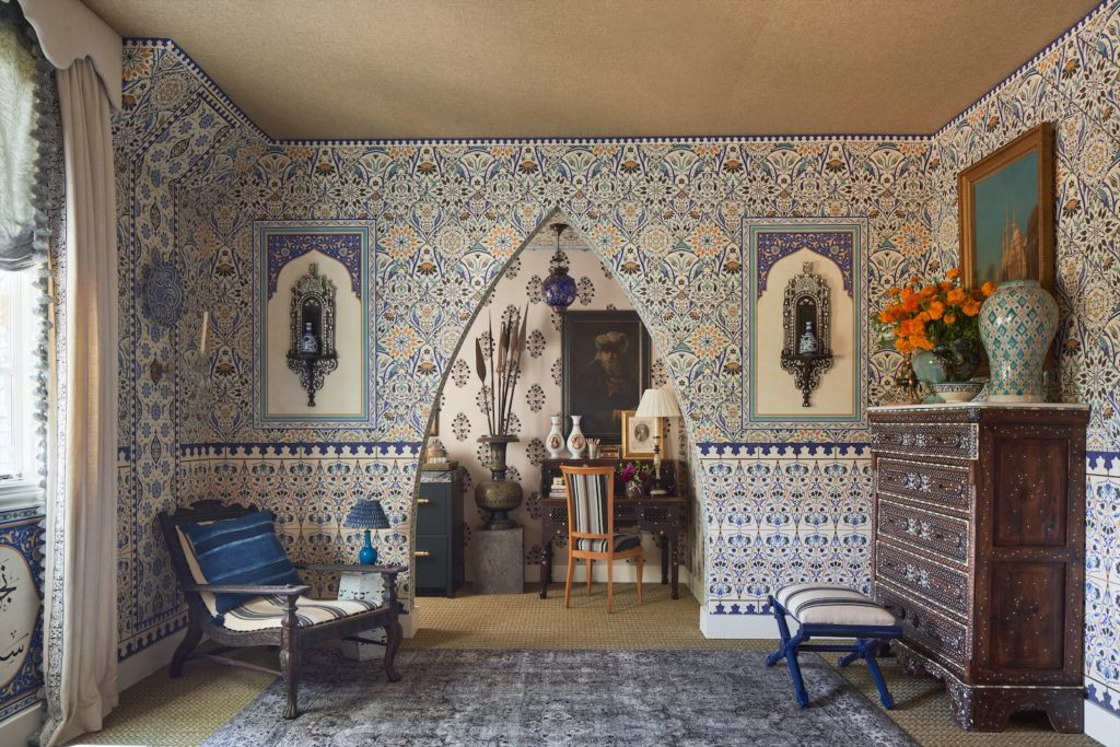 Michelle Nussbaumer's exotic eye on display at the Dallas Kips Bay Showhouse last fall.