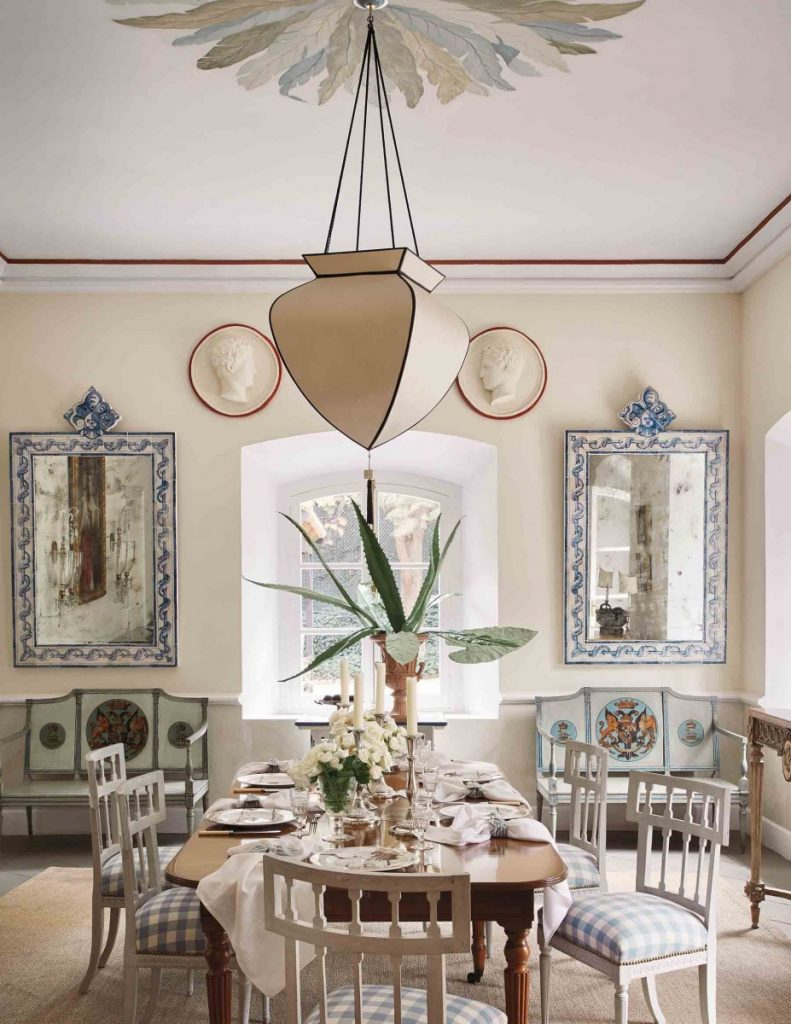 The dining room of their San Miguel home.