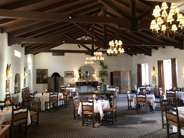 The elegant Arizona Inn dining room has been closed due to covid, but is reopening in October.